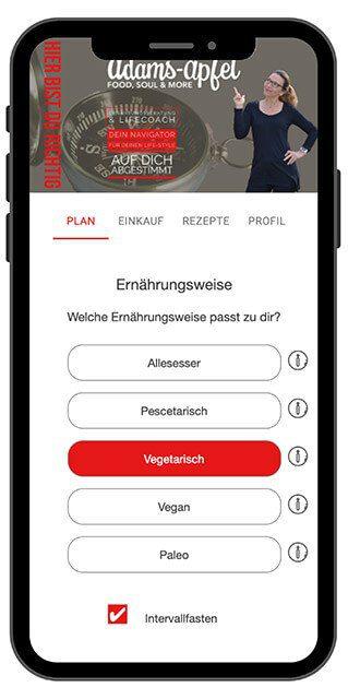 App Ernährungsweise nach Bedarf
