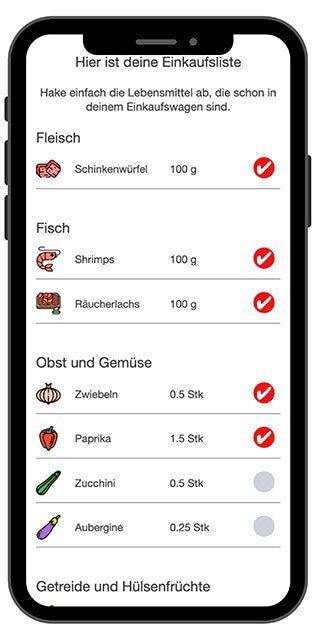 App Einkaufsliste mobil