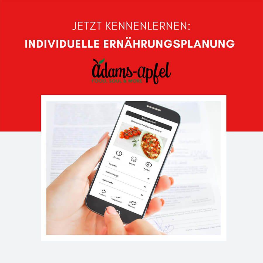 App individuelle Ernährungsplanung